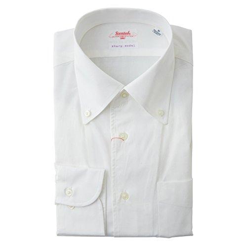 SCHIATTI(スキャッティ)Scented  ボタンダウン ドレスシャツ 白 マーク入り (M)