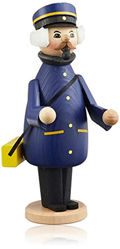 なめらか路面電車適用済みkuhnert ミニパイプ人形香炉 郵便配達員