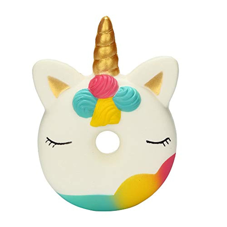 Squishies ジャンボ 低反発 子供用 Lovely Collection Toys かわいいユニコーン ドーナツ 香り付き ストレス解消おもちゃ 13x9.5x3cm/5.12x3.74x1.18inches マルチカラー ILUCI