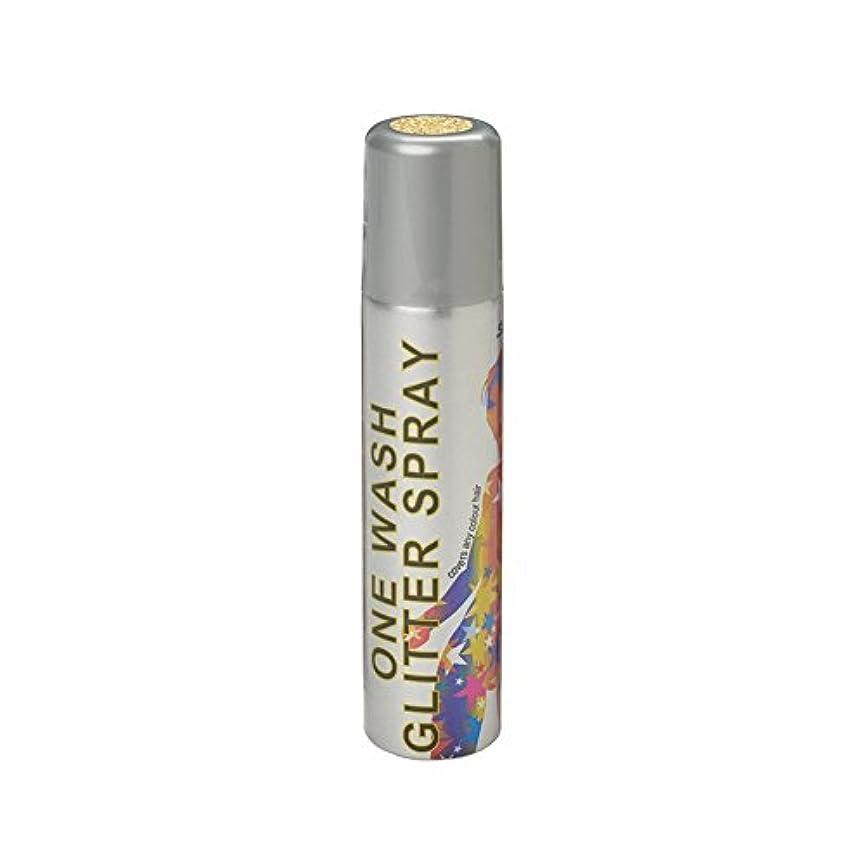 アデレード継続中エアコンスターゲイザー ワンウォッシュ グリッタースプレー 75ml グリッターゴールド