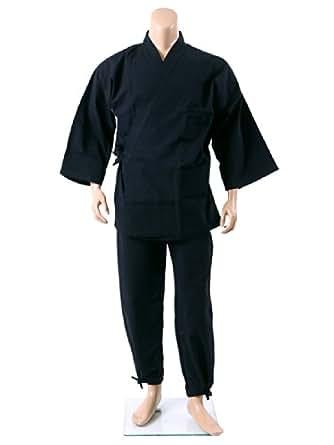 (ビーアンドティークラブ) B&T CLUB 大きいサイズ メンズ ドビー織り生地 作務衣 ブラック / X1