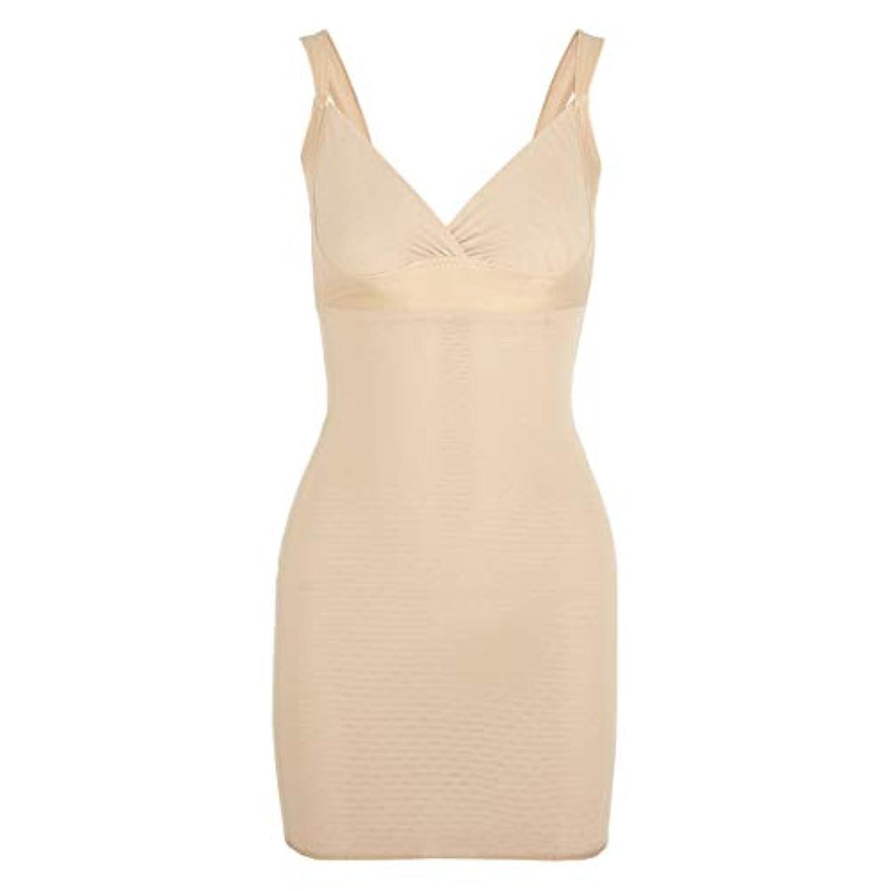 豆腐シャックルあなたは女性のポスト産後Post身下着シェイパードレスを回復ボディスーツシェイプウェアウエストコルセットガードル-アプリコット-XL