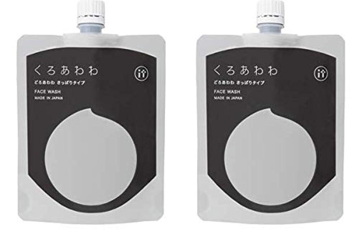 後者ベルト技術くろあわわ洗顔 リニューアル版 どろあわわ どろ豆乳石鹸 110g 2個セット ネット付き