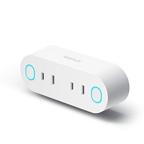 スマートプラグ WiFi スマートコンセント Aoycocr インテリジェント ソケットエネルギー モニタリング Amazon Alexa, GoogleホームやIFTTT対応 2ピン 遠隔操作 スケジュール設定 音声コントロール 日本語アプリ ハブ必要ない 節電 2.4GHzのWIFI接続 技適取得済み