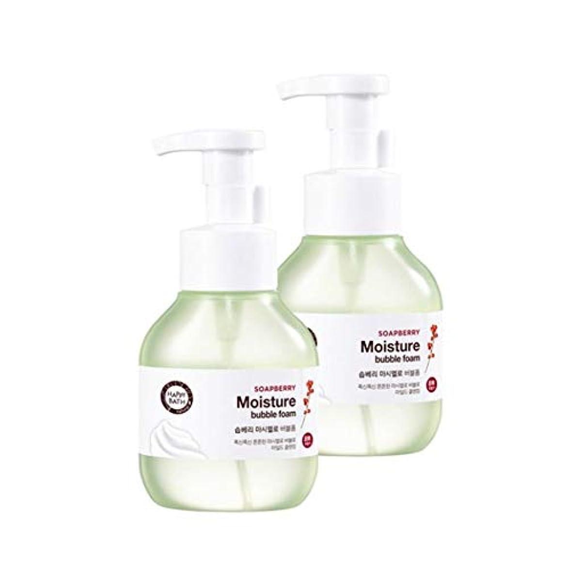 カートン楕円形スピンハッピーバスソープベリーマシュマロバブルフォーム300mlx2本セット韓国コスメ、Happy Bath Soapberry Moisture Bubble Foam 300ml x 2ea Set Korean Cosmetics...