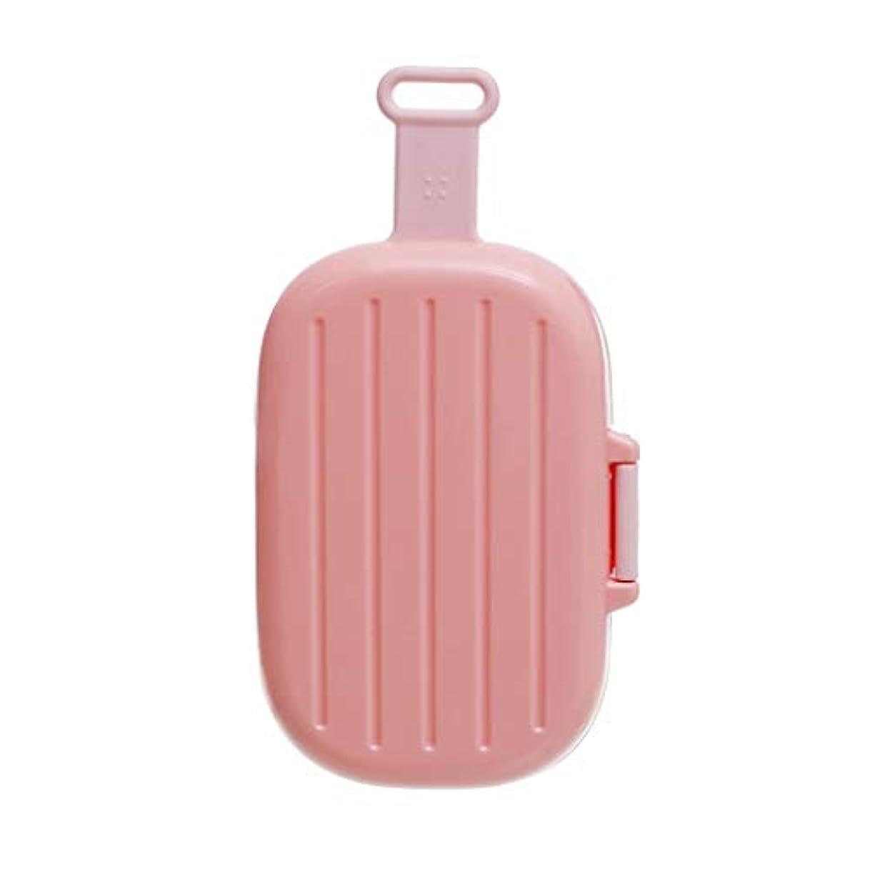 ケージ砂漠黒WXYXG 小さなピルボックスポータブルミニ防湿ポータブル薬箱1週間収納7日収納小さなピルシール箱 (Color : Pink, Size : 15cm×3cm×8cm)