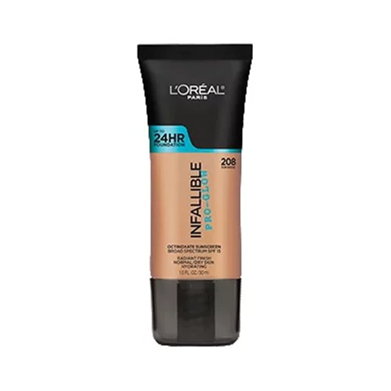 (3 Pack) L'OREAL Infallible Pro-Glow Foundation - Sun Beige (並行輸入品)