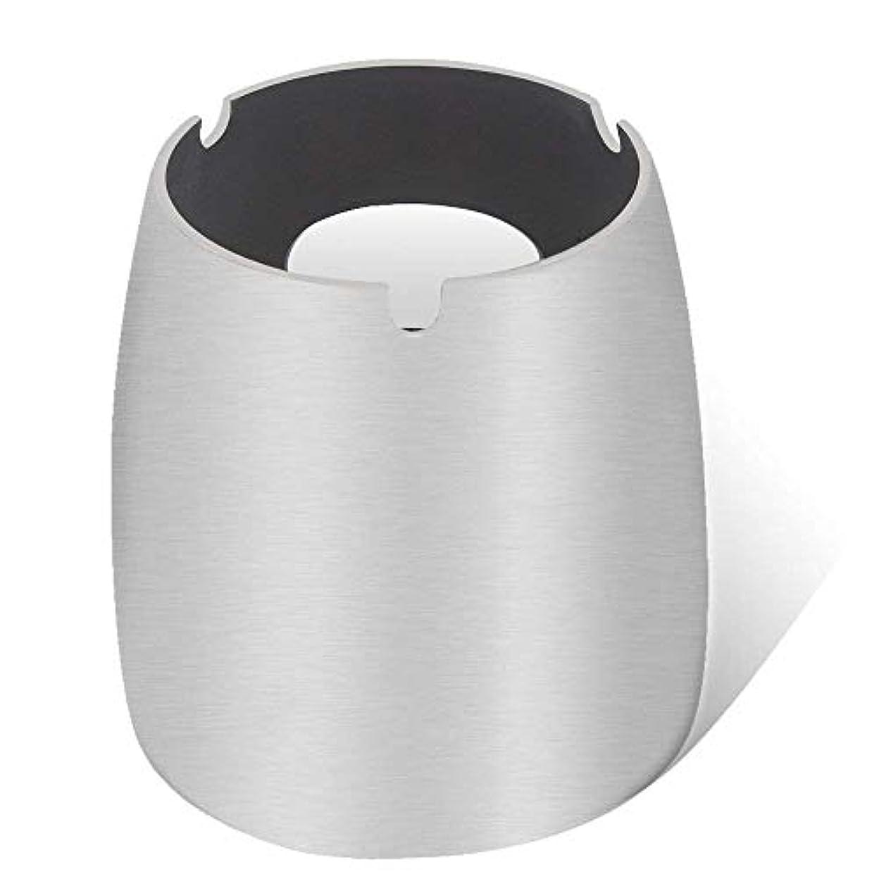 溶ける適応苦味灰皿、ステンレススチール風灰皿タンブルカップ、屋内または屋外用、ガーデンバルコニーシルバー