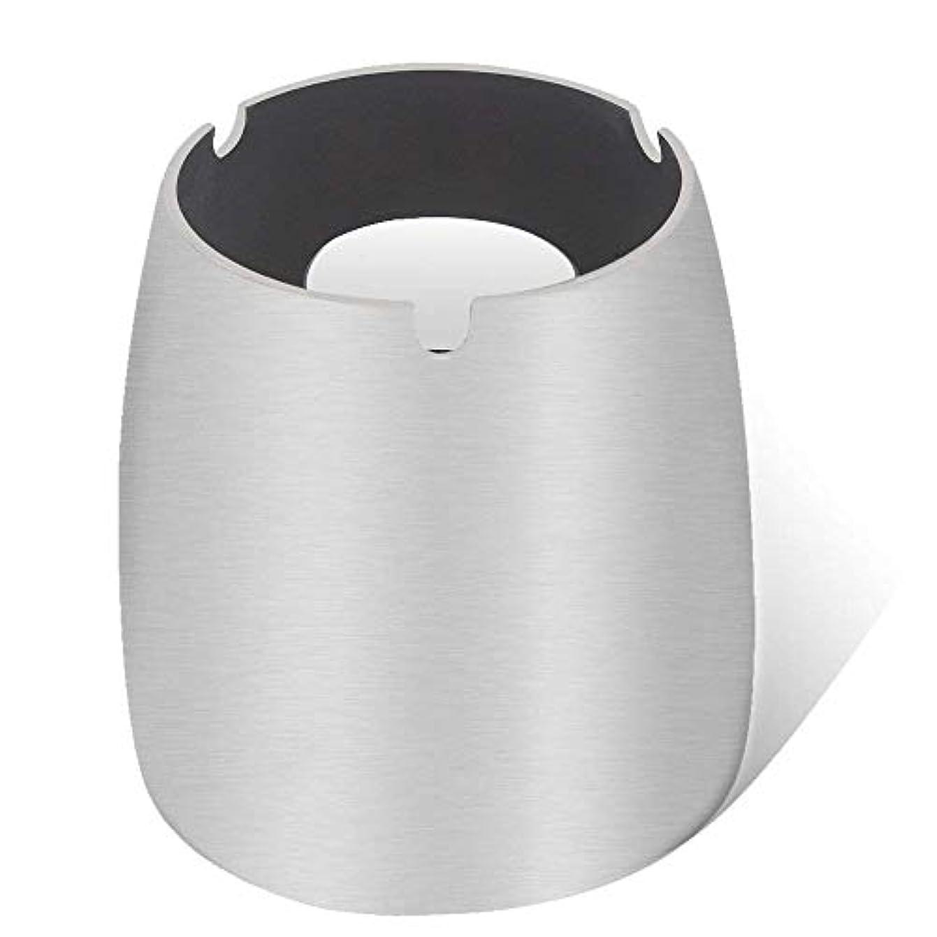 グリル中央セーター灰皿、ステンレススチール風灰皿タンブルカップ、屋内または屋外用、ガーデンバルコニーシルバー