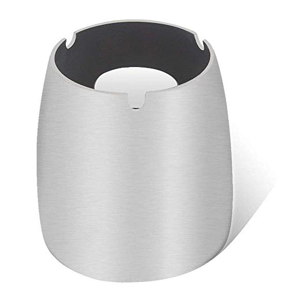 本物の汚染するええ灰皿、ステンレススチール風灰皿タンブルカップ、屋内または屋外用、ガーデンバルコニーシルバー