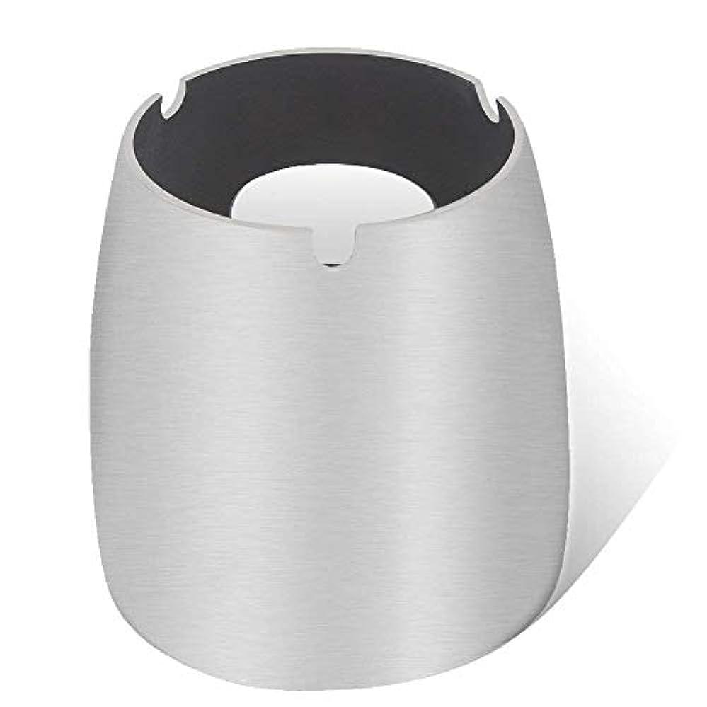 拡大する弁護人作曲する灰皿、ステンレススチール風灰皿タンブルカップ、屋内または屋外用、ガーデンバルコニーシルバー