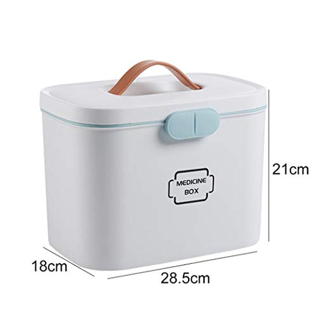薬箱家庭薬箱大型子供応急処置キット薬収納ボックス医療箱家庭薬箱 LIUXIN (Color : White, Size : 21cm×28.5cm×18cm)