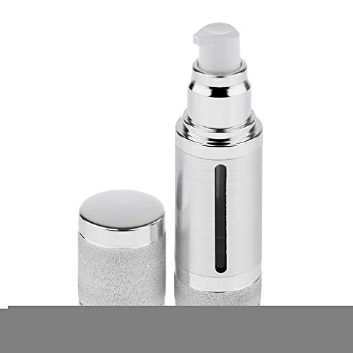 実際の浮く作者30ミリリットルエアレスポンプボトルローションクリーム化粧品詰め替え容器 - 銀