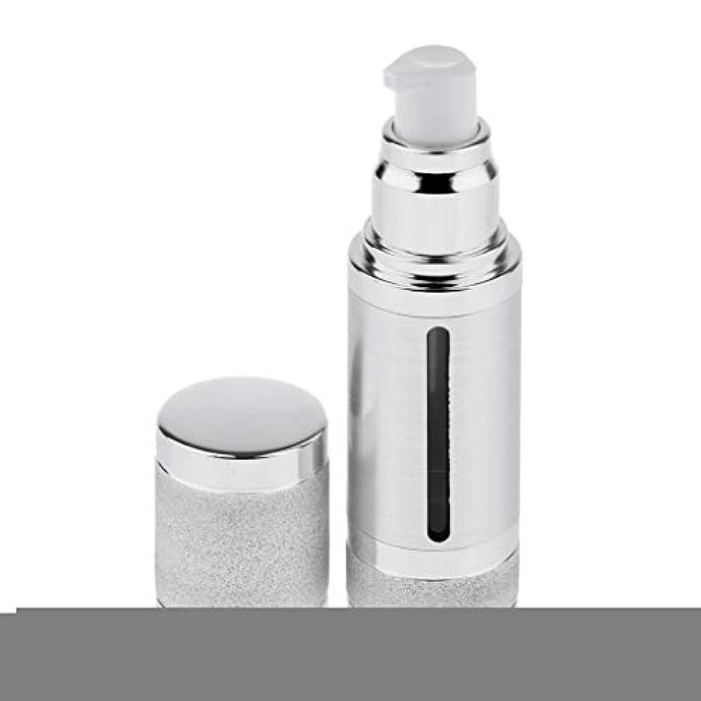 傷跡角度傷跡30ミリリットルエアレスポンプボトルローションクリーム化粧品詰め替え容器 - 銀