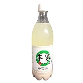 『本家』生マッコリ アルコール度 6度(750ml×1本・PET) 珍しい日本産の生マッコリほんけ お酒 米酒 伝統酒 日本産マッコリ