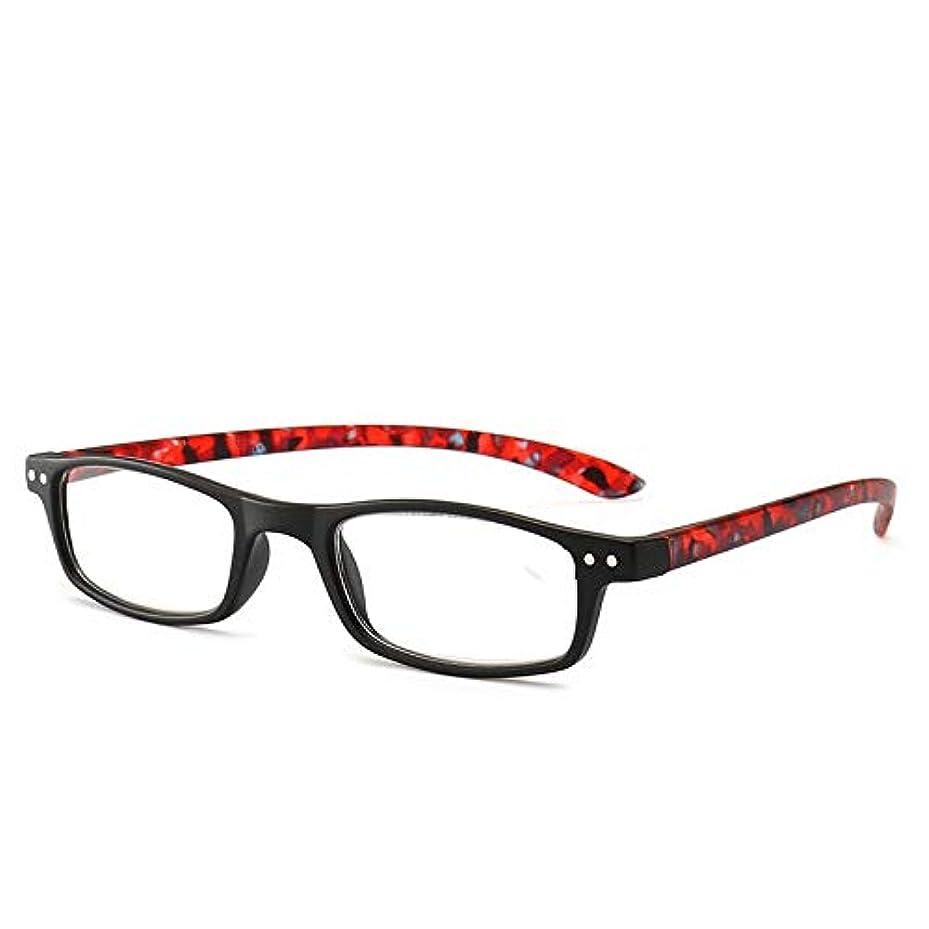 好色なクマノミダイアクリティカルT128老眼鏡ジオプター+1.0〜+4.0女性男性フルフレームラウンドレンズ老視メガネ超軽量抗疲労-赤400