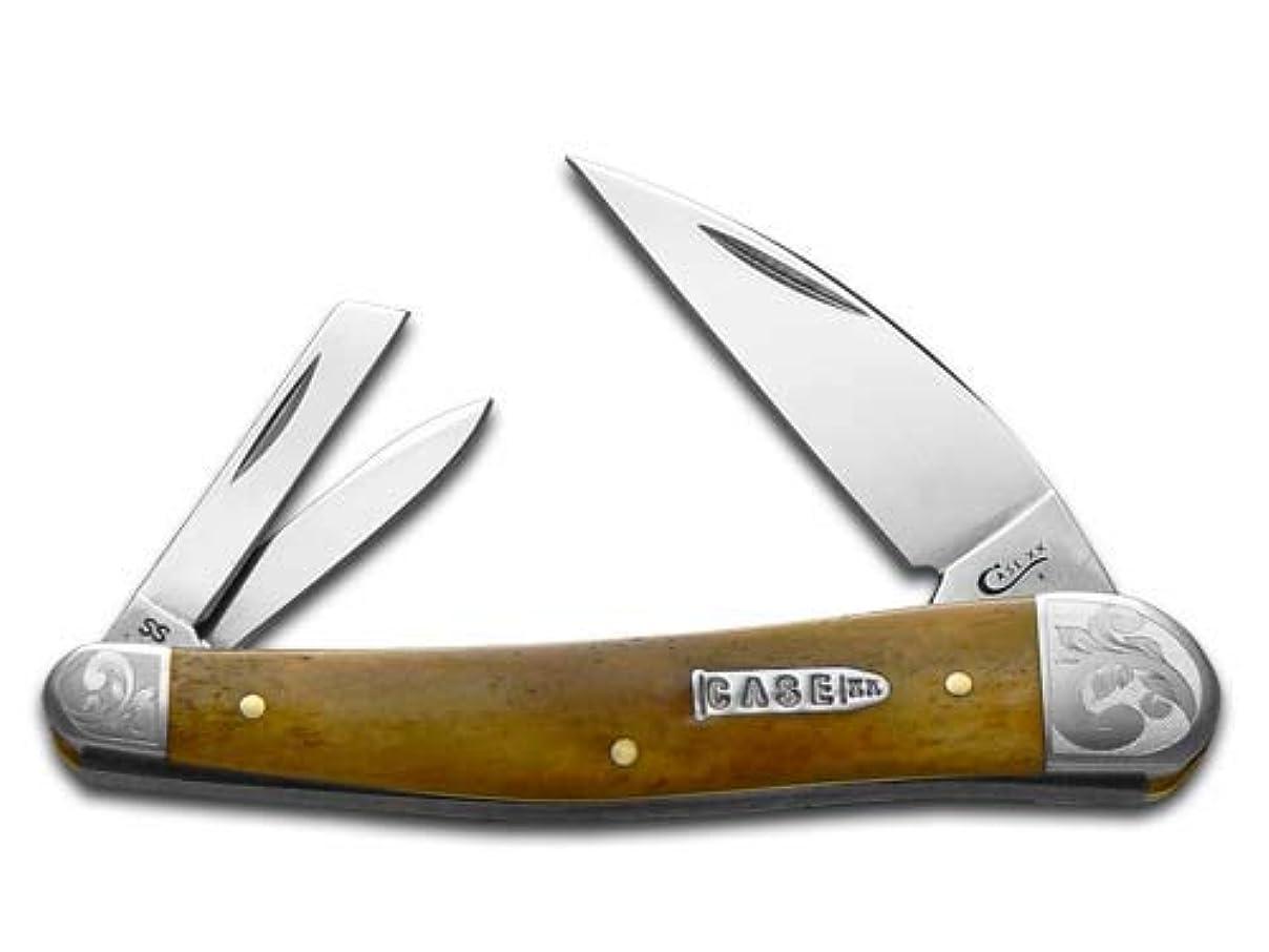 反応する一般的なサイズCASE XX アンティーク骨巻き タツノオトシゴ ホイッスラー 1/200 ステンレスポケットナイフナイフ