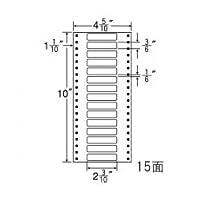 東洋印刷 タックフォームラベル 4 5/10インチ ×10インチ 15面付(1ケース1000折) MM4P