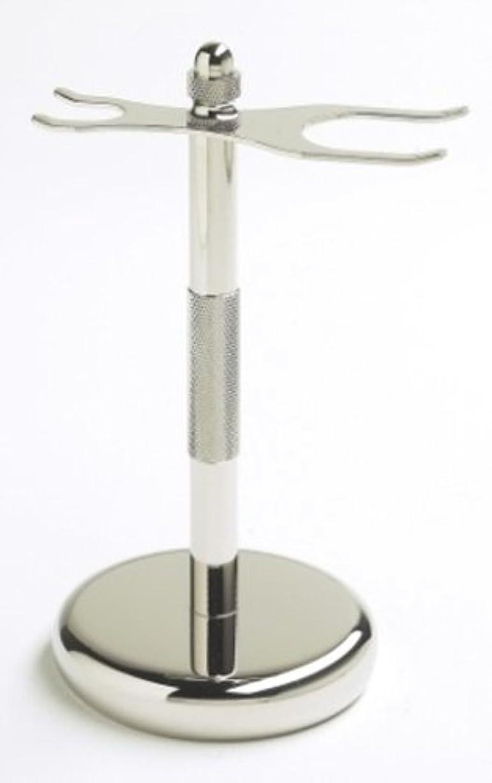 スイス人概念ワークショップColonel カミソリ&シェービングブラシ用スタンド(クロム処理加工)