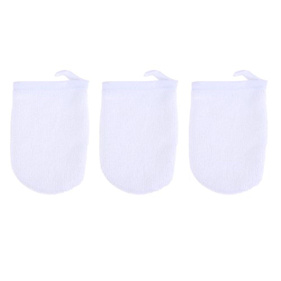 不潔望みエキスパートBESTONZON 3ピースマイクロファイバー洗顔手袋フェイスクレンジングタオルクロススパミットソフト洗濯道具
