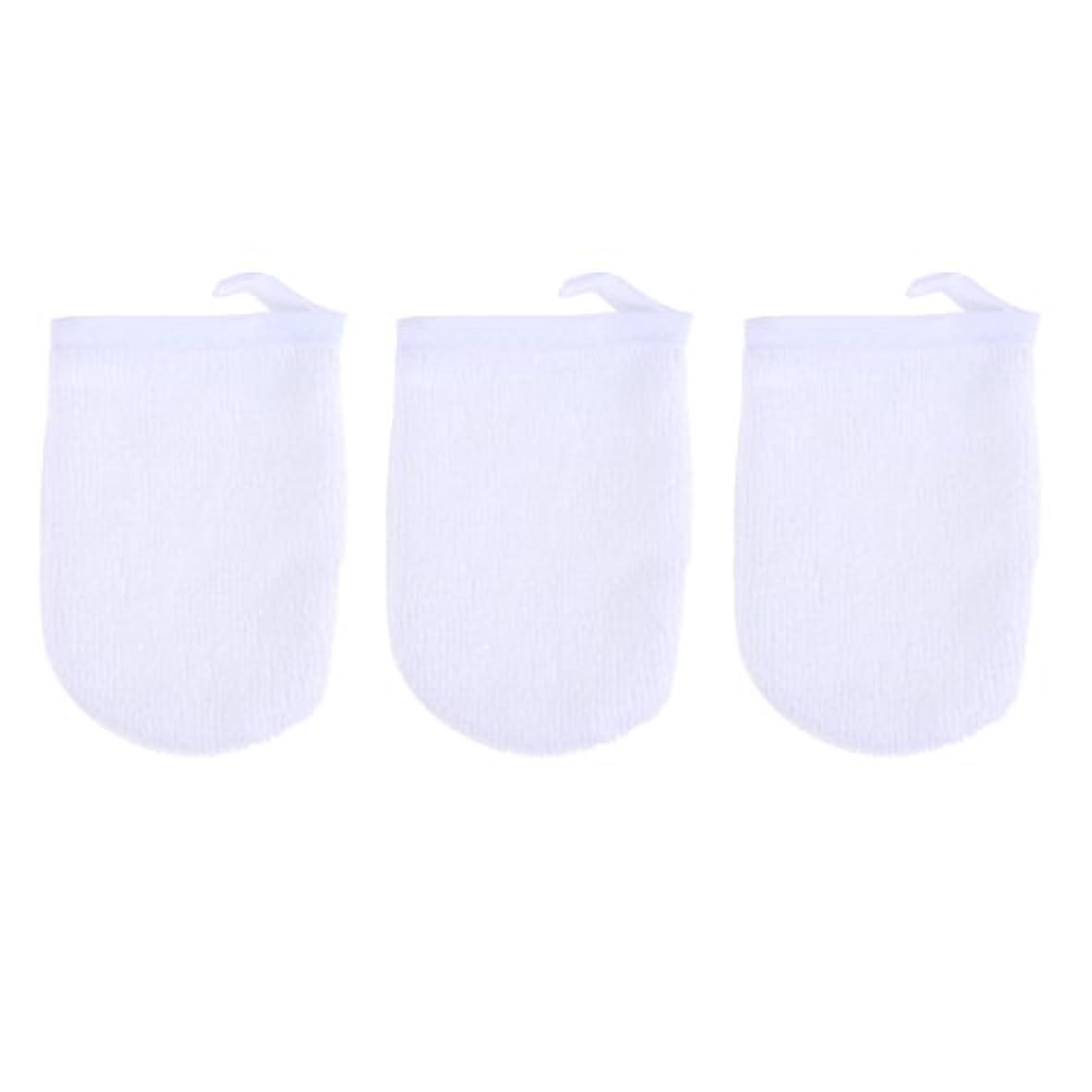 可動式ささいなテレマコスBESTONZON 3ピースマイクロファイバー洗顔手袋フェイスクレンジングタオルクロススパミットソフト洗濯道具