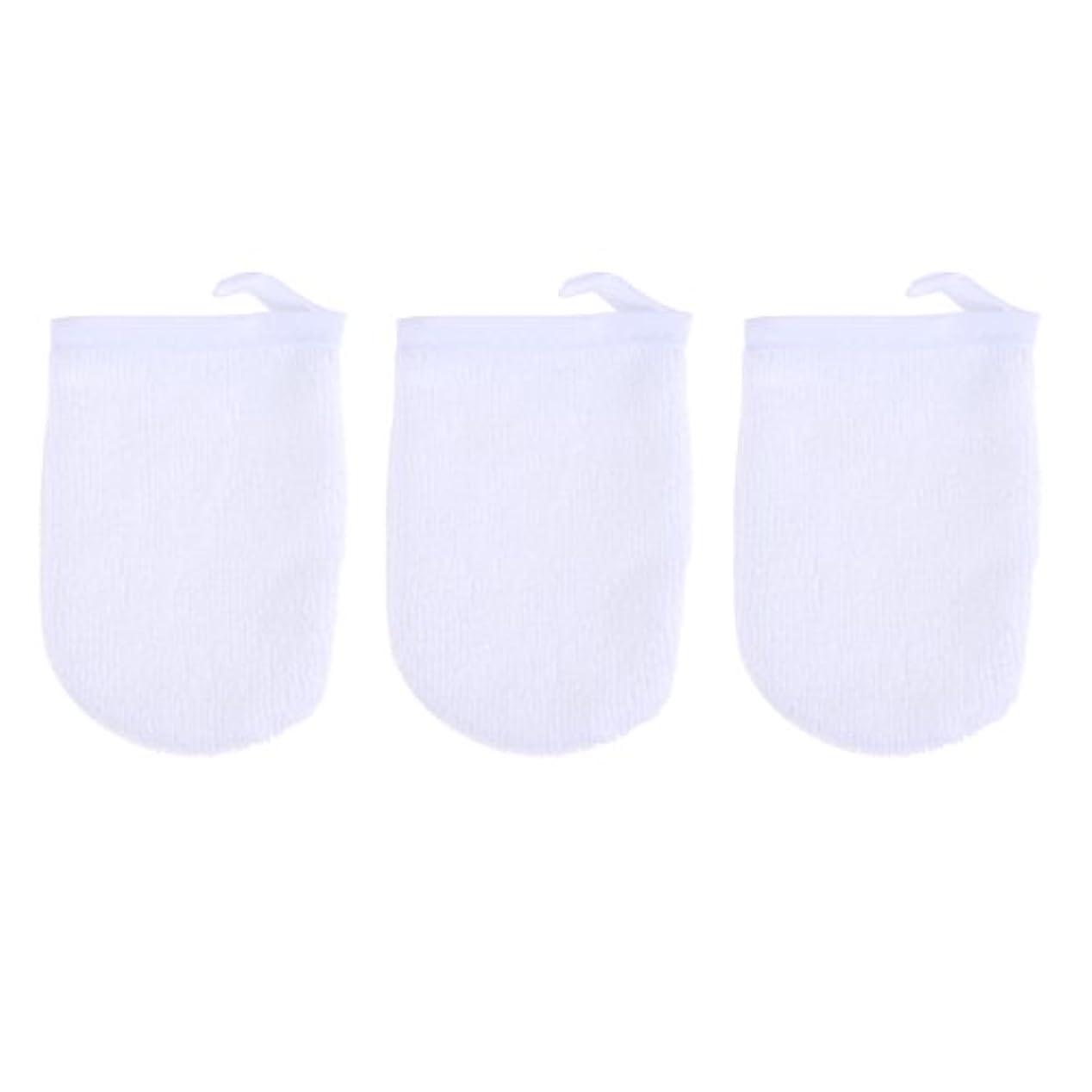 オープナーバーゲン限りなくBESTONZON 3ピースマイクロファイバー洗顔手袋フェイスクレンジングタオルクロススパミットソフト洗濯道具