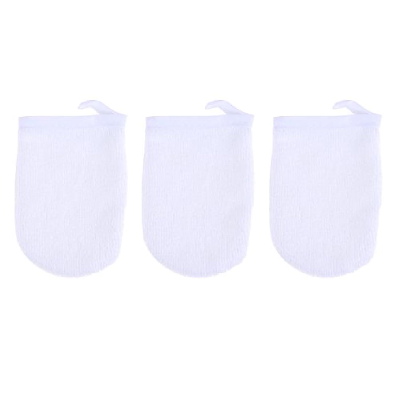 あらゆる種類のダメージながらBESTONZON 3ピースマイクロファイバー洗顔手袋フェイスクレンジングタオルクロススパミットソフト洗濯道具