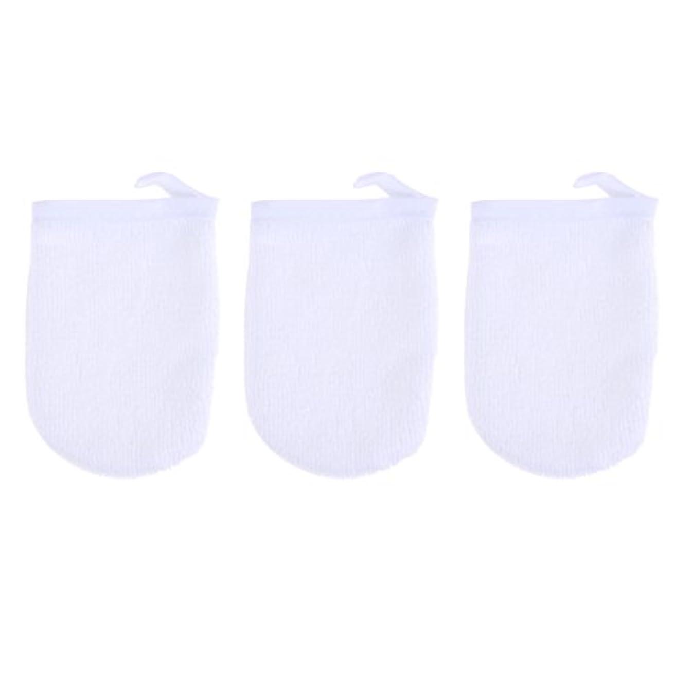 タールブラウス家畜BESTONZON 3ピースマイクロファイバー洗顔手袋フェイスクレンジングタオルクロススパミットソフト洗濯道具