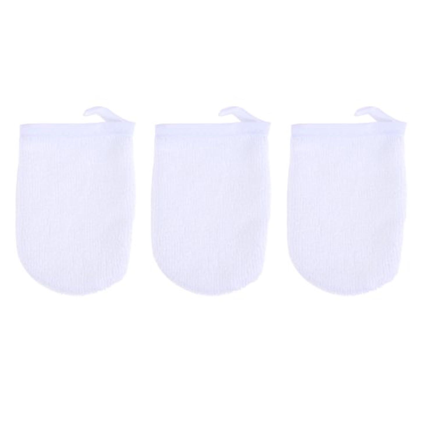 登場太陽変更BESTONZON 3ピースマイクロファイバー洗顔手袋フェイスクレンジングタオルクロススパミットソフト洗濯道具