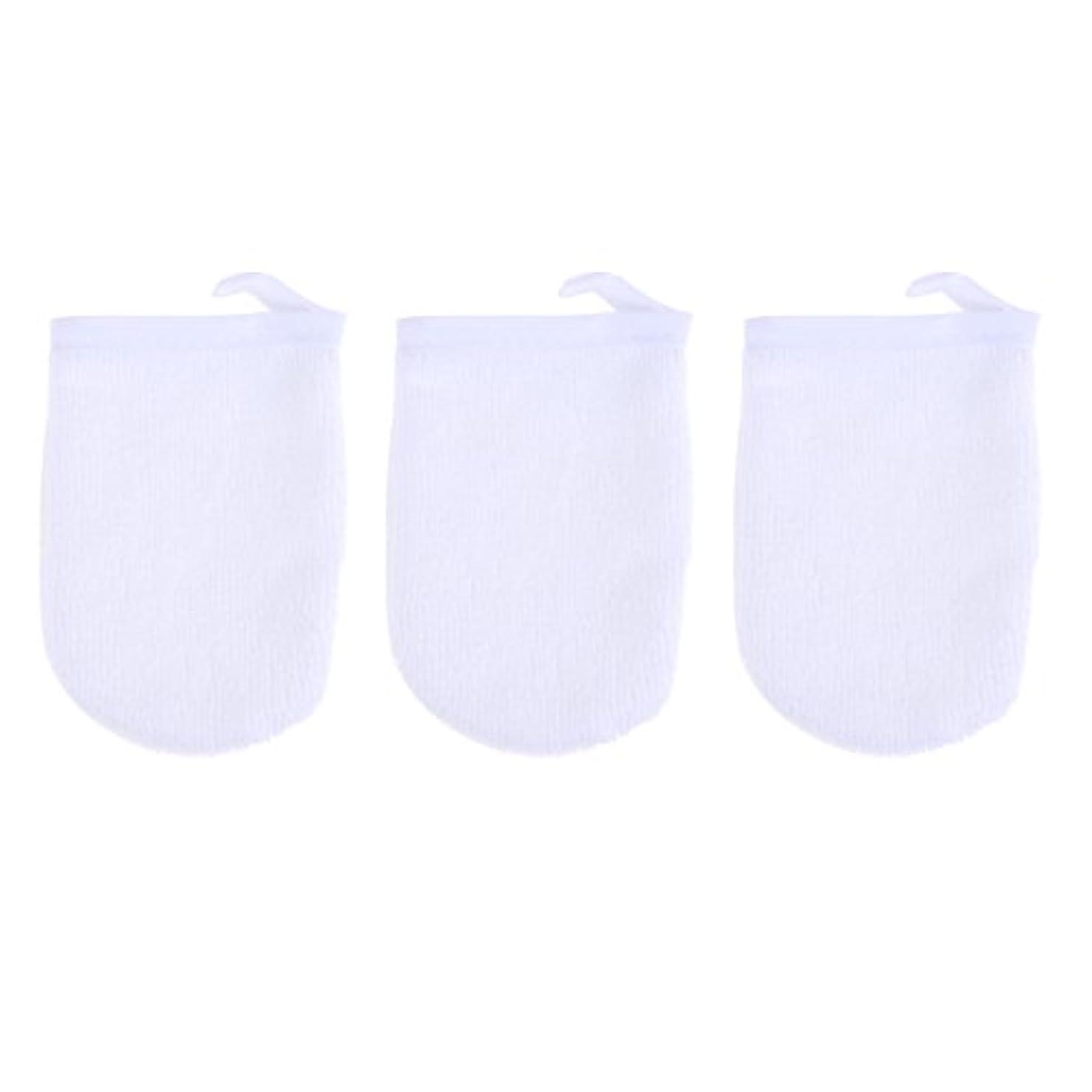 ブラウザラグちょうつがいBESTONZON 3ピースマイクロファイバー洗顔手袋フェイスクレンジングタオルクロススパミットソフト洗濯道具