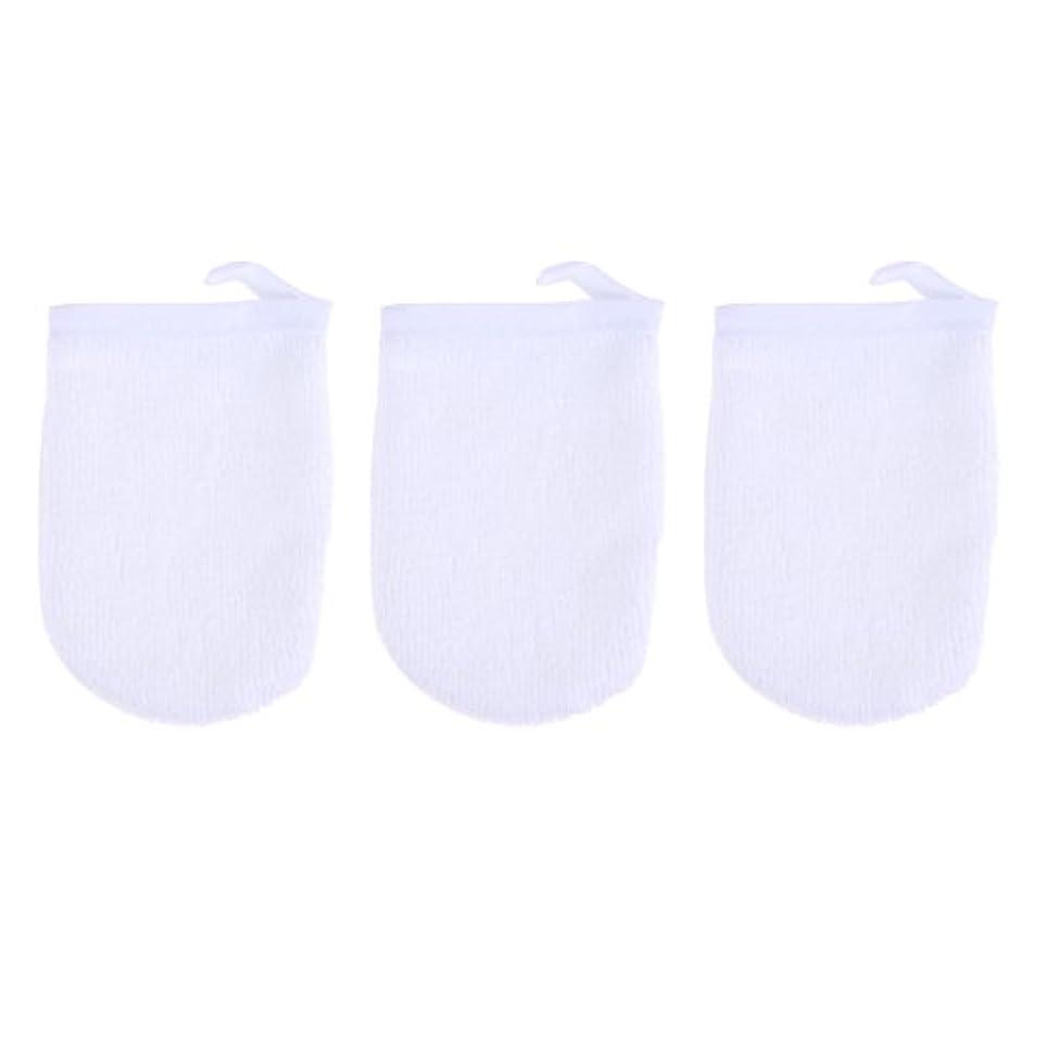 願望境界トライアスロンBESTONZON 3ピースマイクロファイバー洗顔手袋フェイスクレンジングタオルクロススパミットソフト洗濯道具