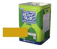日本ペイント 水性 ファインウレタンU100 オーカー 15kg