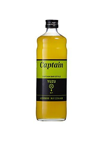 キャプテン ゆずシロップ 瓶 600ml