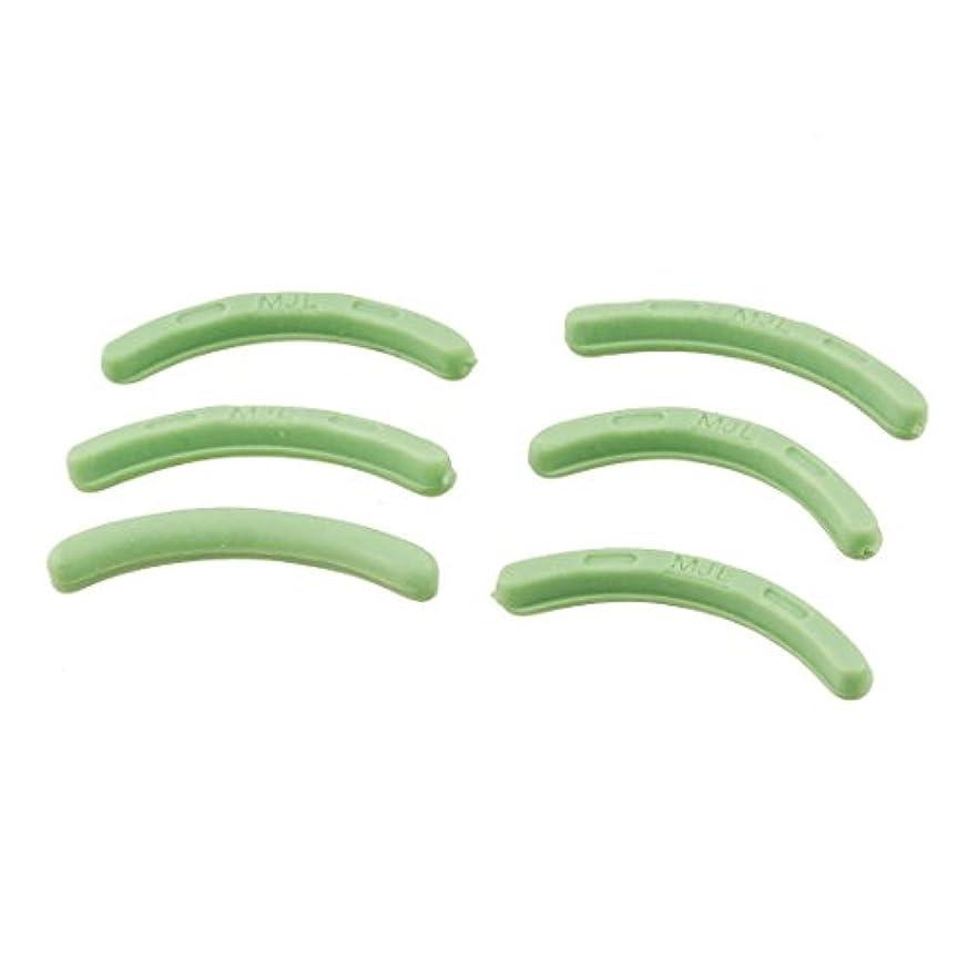 消化反毒あいまいなuxcell アイラッシュカーラー 替えゴム ホワイト 6コ付 グリーン