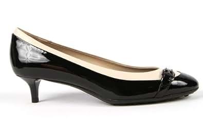 Tod's Womens Kitten Heel Pump (トッズ) ウーマン キトゥン ヒール パンプス ブラック (EU35 日本22.5cm)