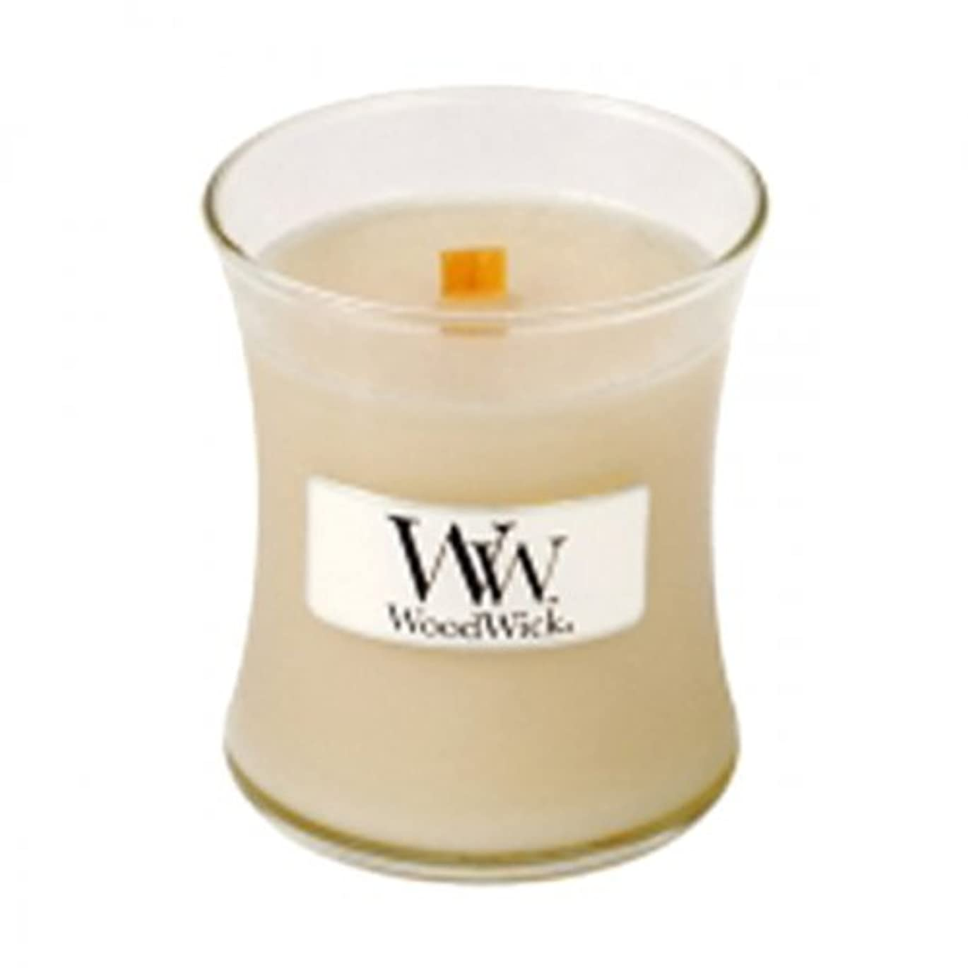 文字ソーセージ賄賂Woodwick Jar Candle (Small) (At The Beach)