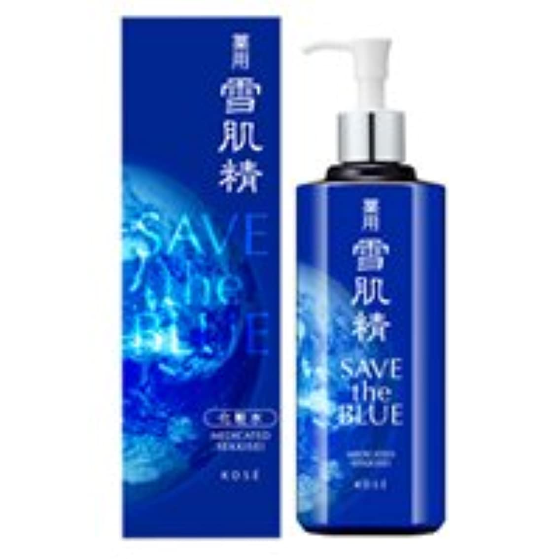 手紙を書くタイプライターストレッチコーセー 薬用 雪肌精 500ml 化粧水 SAVE the BLUE パッケージ