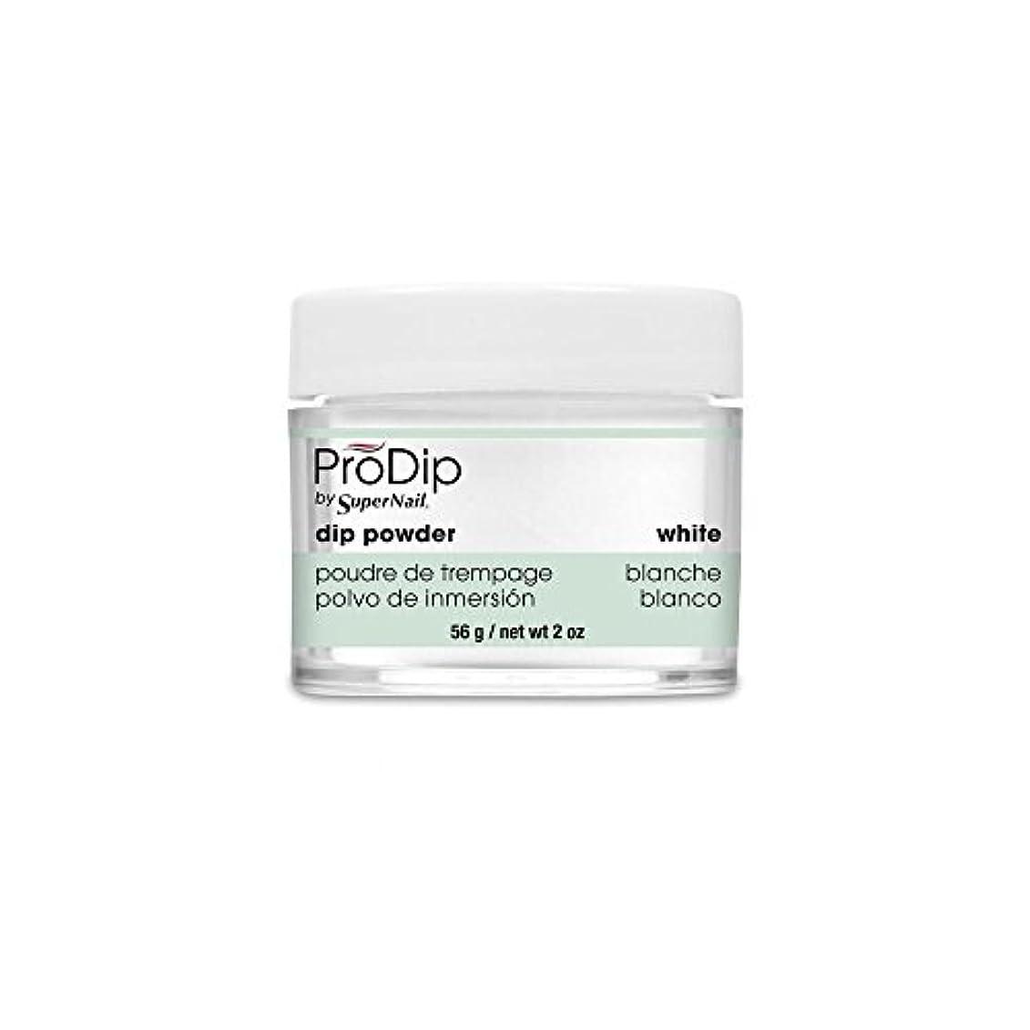 鮫おんどり荒廃するSuperNail - ProDip - Dip Powder - White - 56 g/2 oz
