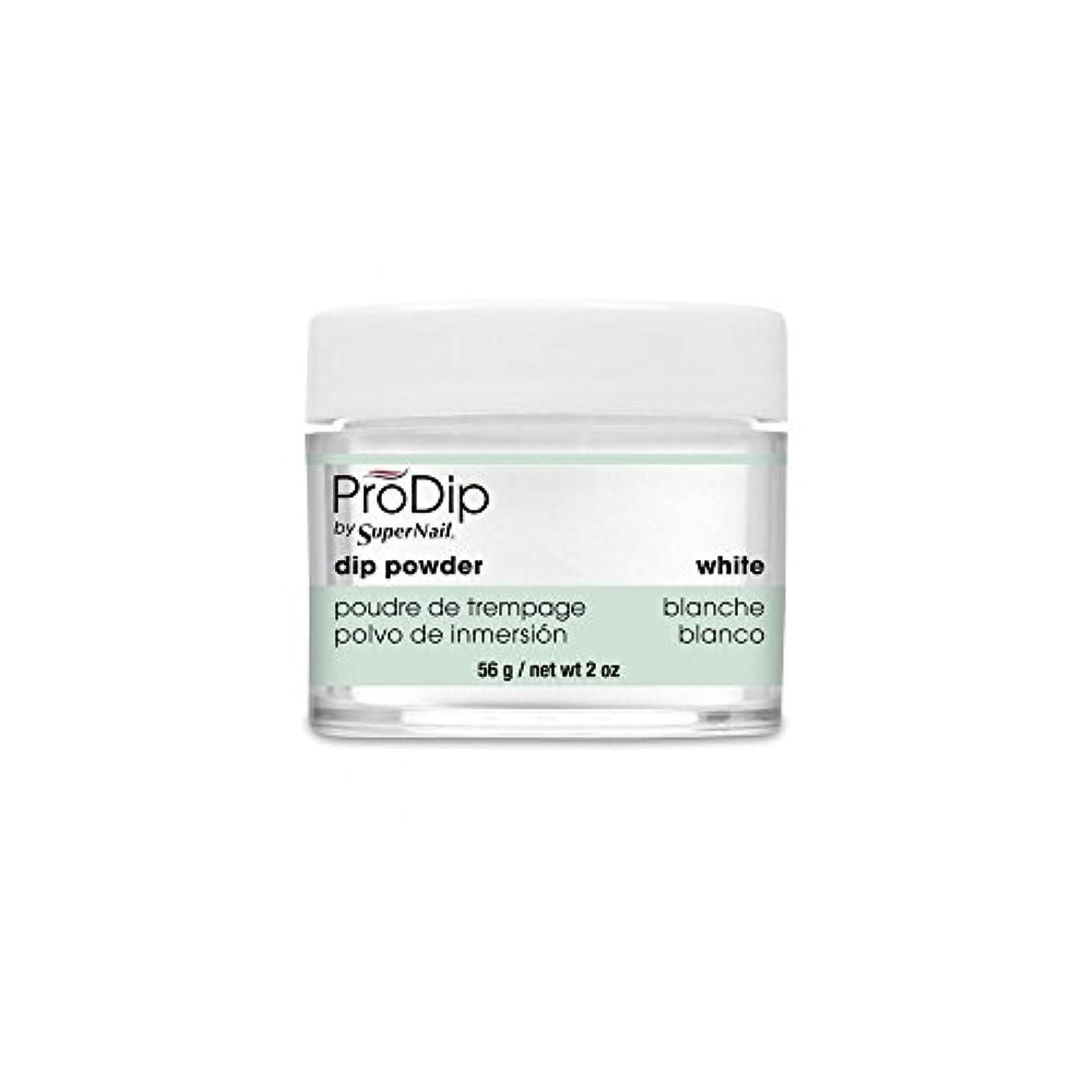 資格忌み嫌う純正SuperNail - ProDip - Dip Powder - White - 56 g/2 oz