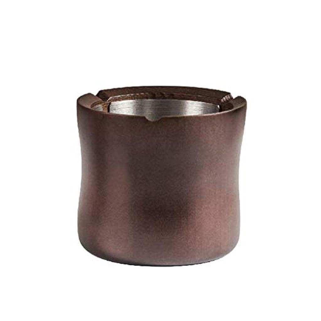 同一の慢性的質量ZXW 灰皿- ふたの灰皿のオフィスの家の簡単で現代的な居間のコーヒーテーブルの家具が付いている純木 (色 : Ebony, サイズ さいず : 95x85mm)