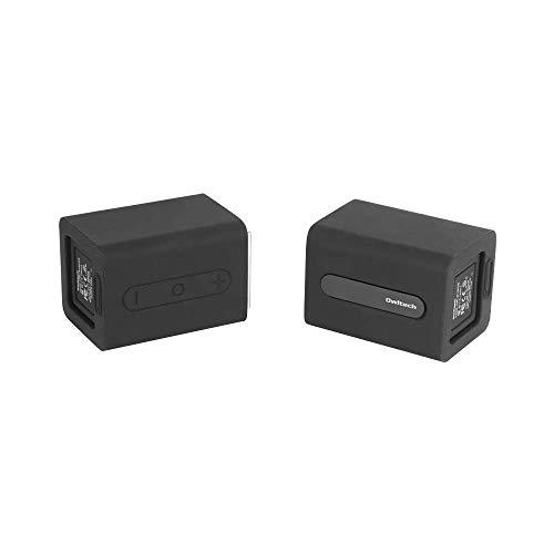 オウルテック ワイヤレススピーカー パッシブラジエーター 搭載 2つに分かれる Bluetoothスピーカー 離すだけで電源ON/OFF ブラック OWL-BTSP09-BK