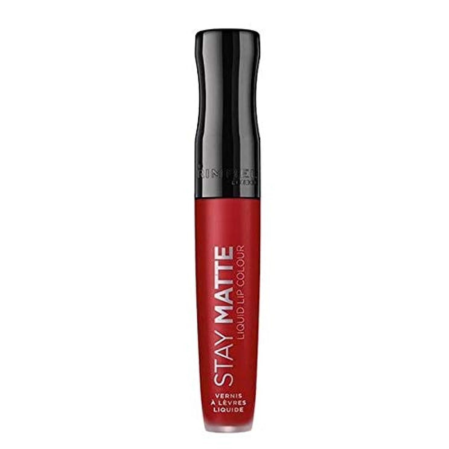 姉妹化学者貧困[Rimmel ] リンメルステイマット液状口紅火災スターター500 - Rimmel Stay Matte Liquid Lipstick Fire Starter 500 [並行輸入品]