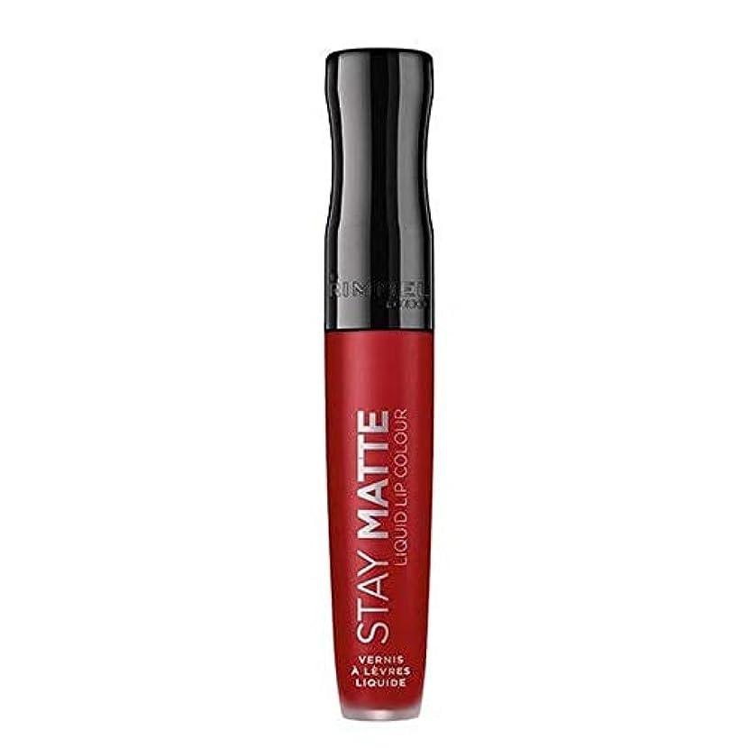 会議確率経験者[Rimmel ] リンメルステイマット液状口紅火災スターター500 - Rimmel Stay Matte Liquid Lipstick Fire Starter 500 [並行輸入品]