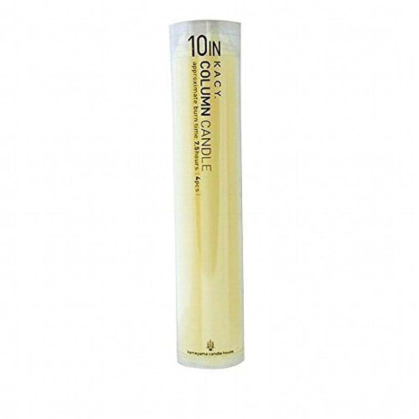 人工的な商品ロンドンkameyama candle(カメヤマキャンドル) 10インチコラムキャンドル4本入り 「 アイボリー 」(A9123100IV)
