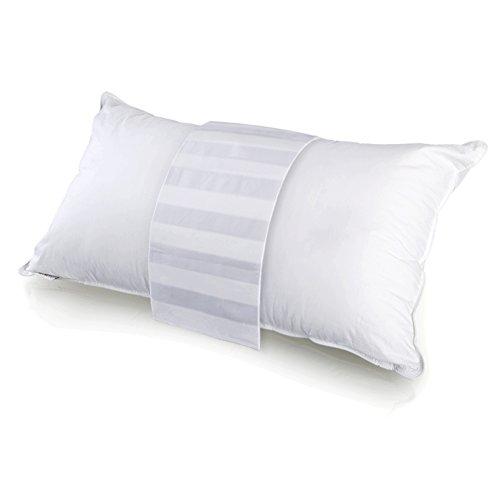 mittaGonG 【カバー付】 洗える 安眠 枕 ホテル仕様 ホワイト 横寝がしやすいワイド幅 45X75cm