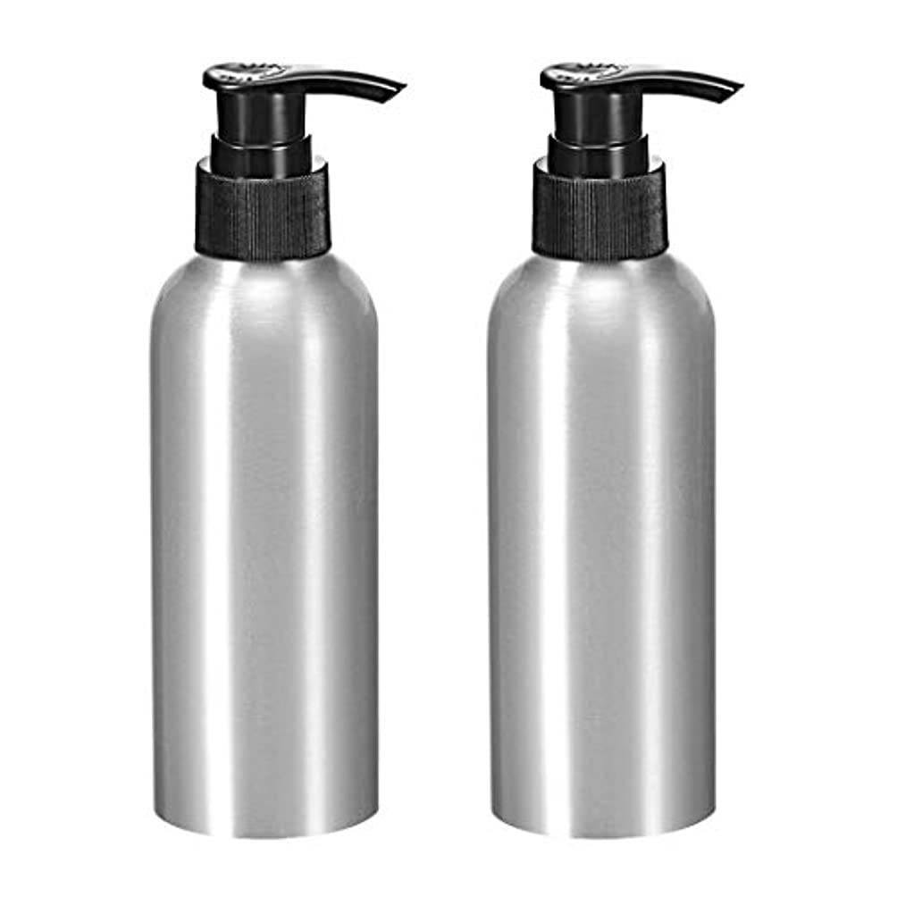 強風ご飯観客uxcell アルミスプレーボトル 細かい霧のスプレーヤー付き 空の詰め替え容器 トラベルボトル 8.4oz/250ml 2個入り