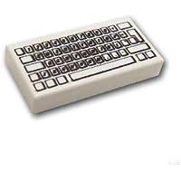 レゴブロック ばら売りパーツ タイル 1 x 2 - キーボード :[White / ホワイト] [並行輸入品]