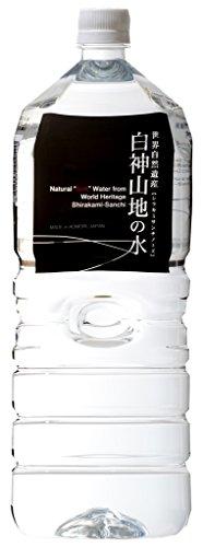白神山美水館 白神山地の水 黒ラベル 2L×6本 [0537]