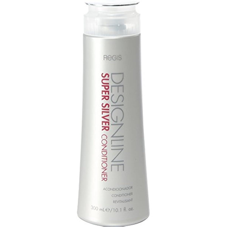 モディッシュが欲しい。DESIGNLINE スーパーシルバーコンディショナー、 Regis -ブロンド、グレー、白髪の色の輝きを高めるために湿気を回復 そして色の褪色を防ぐために弾力性を強化し、髪縺れを強化する 10.1 オンス