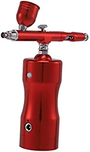 SNOWINSPRING Auto Airbrush Kit Rechargeable Handheld Air Compressor Airbrush Set with 0.4mm Nozzles, Portable